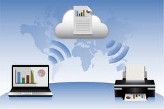Принтер ПК облака Стоковая Фотография RF