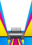 Принтер. хроматичное печатание Стоковое фото RF