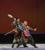 Принуждение--€œLittle Worriors оперы Пекина  family†Yeuh's стоковые изображения