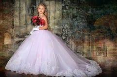 Принцесса в белом платье Стоковые Изображения