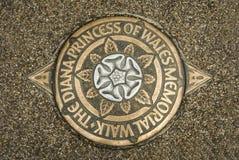 Принцесса дамы Дианы отметки прогулки Уэльса мемориальной, Лондона Стоковое Изображение RF