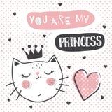 Принцесса Кот иллюстрация вектора
