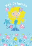 Принцесса моря. бесплатная иллюстрация