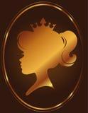 Принцесса Силуэт На Шоколад Предпосылка девушки Стоковые Фотографии RF
