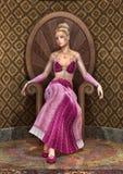 Принцесса сказки иллюстрация вектора
