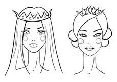 Принцесса. Стиль эскизов Стоковые Изображения