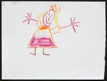 Принцесса чертеж s ребенка стоковые изображения