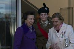 Принцесса Энн Открытие Coleraine Библиотека HRH стоковые изображения rf