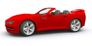 принципиальная схема автомобиля 3d представила спорты Стоковая Фотография RF