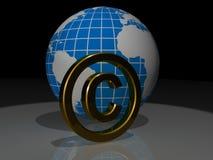 Принципиальная схема авторского права Стоковые Изображения RF