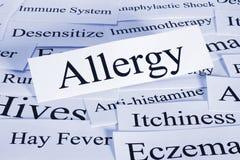 Принципиальная схема аллергии Стоковые Фотографии RF
