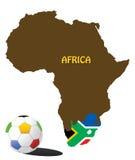 принципиальная схема Африки южная иллюстрация штока
