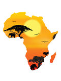 принципиальная схема Африки Стоковое Фото