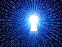 Принципиальная схема безопасности данных Стоковая Фотография RF