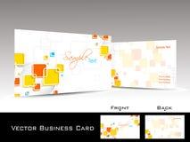 принципиальная схема визитной карточки цветастая шикарная Стоковое Изображение RF