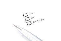 Принципиальная схема вопроса Стоковое Изображение RF