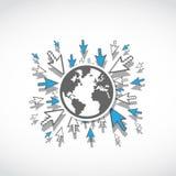 Принципиальная схема всемирной сети Стоковые Фотографии RF