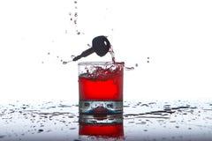 Принципиальная схема выпивать и управлять, ключи автомобиля Стоковая Фотография