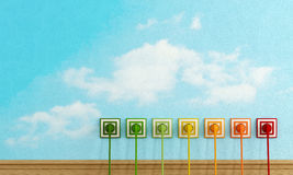Принципиальная схема выхода по энергии Стоковое Изображение RF
