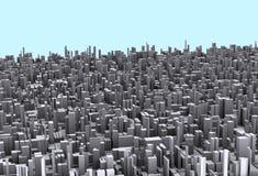 принципиальная схема города самомоднейшая Стоковая Фотография RF