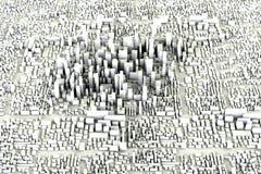 принципиальная схема города самомоднейшая Стоковая Фотография