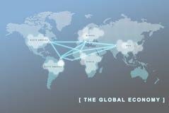 Принципиальная схема дела международной экономики Стоковое фото RF