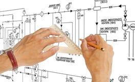 Принципиальная схема дела Buildiing Стоковая Фотография RF