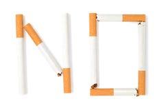 принципиальная схема для некурящих Стоковые Фото