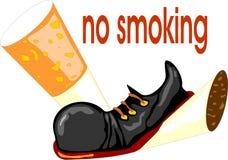 принципиальная схема для некурящих Стоковая Фотография