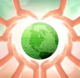 Принципиальная схема дня земли Стоковое Изображение