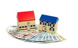 Принципиальная схема дома и дег Стоковые Изображения RF