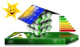 Принципиальная схема дома энергосберегающая Стоковые Изображения RF