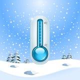 Принципиальная схема замораживания зимы Стоковое фото RF