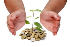 принципиальная схема инвестирует деньги стоковые фото