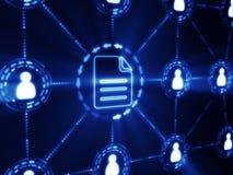 Принципиальная схема интернета Стоковое Изображение