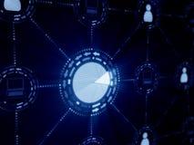 Принципиальная схема интернета Стоковые Изображения RF