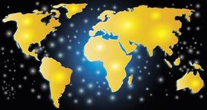 Принципиальная схема карты мира Стоковое Изображение RF