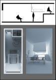 принципиальная схема квартиры Стоковые Фотографии RF