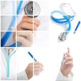 принципиальная схема коллажа медицинская Стоковые Изображения RF