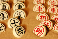принципиальная схема конкуренции шахмат китайская традиционная Стоковые Фотографии RF