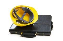 Принципиальная схема конструкции - случай и трудный шлем Стоковое Изображение