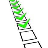 Принципиальная схема контрольного списка Стоковые Фото
