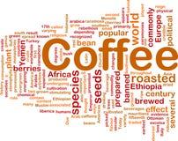 принципиальная схема кофе напитка предпосылки Стоковое фото RF