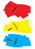 Принципиальная схема краски ролика Стоковая Фотография RF