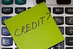 Принципиальная схема кредита Стоковые Изображения