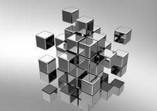принципиальная схема кубическая Стоковая Фотография RF