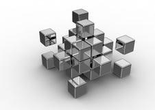 принципиальная схема кубическая Стоковые Фотографии RF