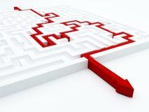 Принципиальная схема лабиринта Стоковое Изображение