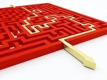 Принципиальная схема лабиринта Стоковое Изображение RF