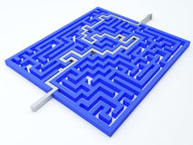 Принципиальная схема лабиринта Стоковое Фото